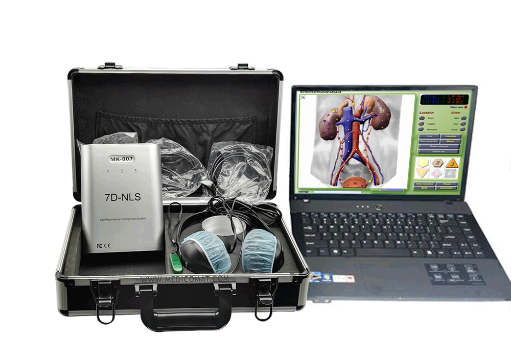 7D-NLS Computer Health Analyzer Medicomat-36 7D-NLS Health Body Composition Analyzer - 10 Minute Examination - Accuracy over 90% - Not Side Effects - Health Trends - Recovery Plan - Warranty one year - 7D-NLS Software; Language available: English, Spanish, German, Russian. Main function: 1. Healt...